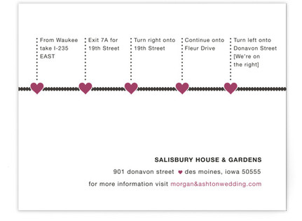 A Love Story Directions Cards