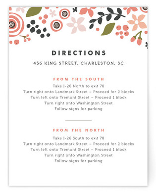 Midnight Fete Directions Cards