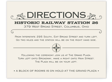 A Blessed Union Directions Cards