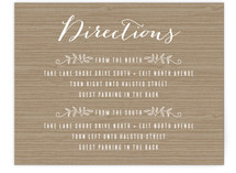 Woodland Initials Direction Cards
