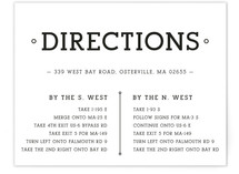 Established Union Direction Cards