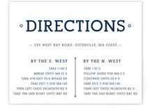 Established Union Direction Cards