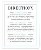 Wed in Type Direction Cards