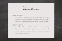 Directions Cards