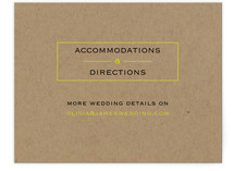 Vintage Kraft Direction Cards