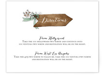 The Wedding Sign Says Direction Cards