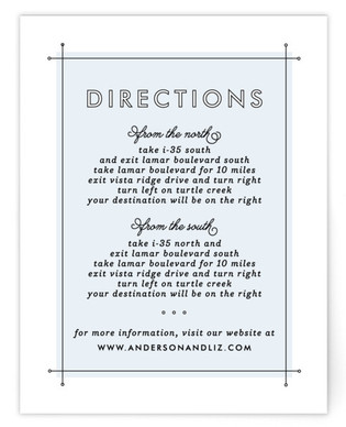 Me & You Directions Cards