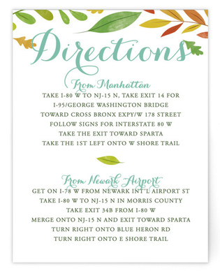 Forest Wreath Directions Cards