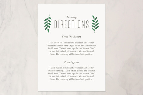 Bold Florals Direction Cards