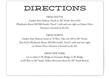 Mod Elegance Directions Cards