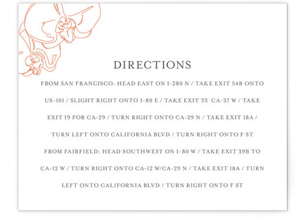 Beloved Orchid Directions Cards