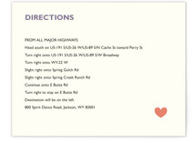 Destination Direction Cards