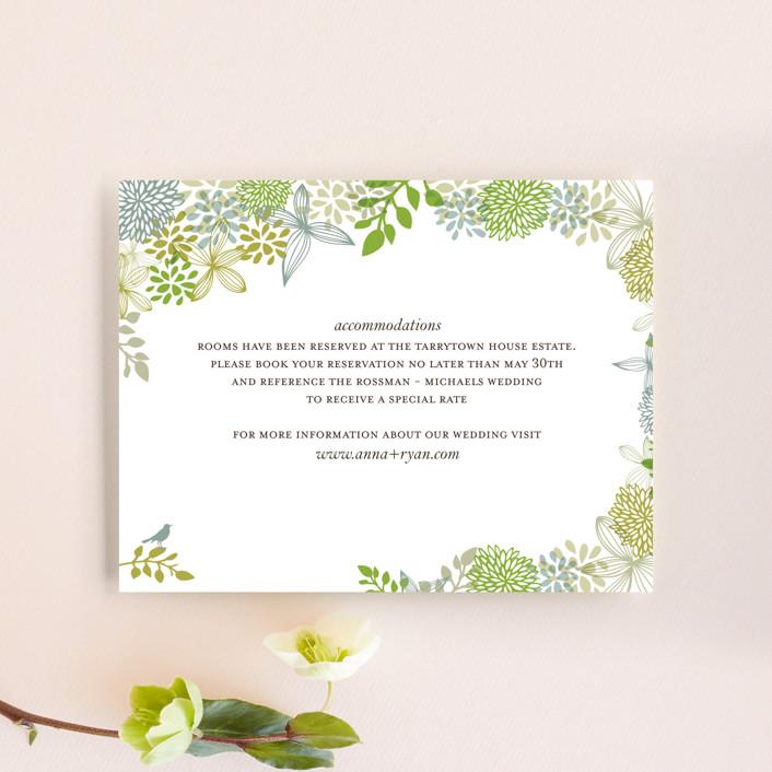 """Fling"" - Rustic, Floral & Botanical Direction Cards in Leaf by Andrea Mentzer."