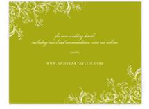 Victorian Vine Monogram Direction Cards