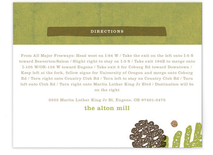 Rustic Pinecones Directions Cards
