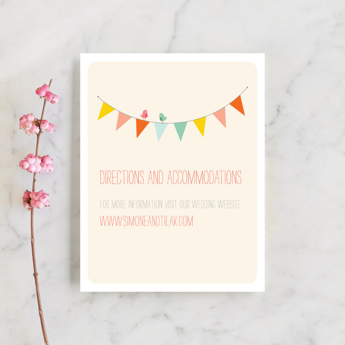 """Barn Party!"" - Rustic, Whimsical & Funny Direction Cards in Peach by ZucchiniPress."