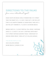 Simple Coral Direction Cards