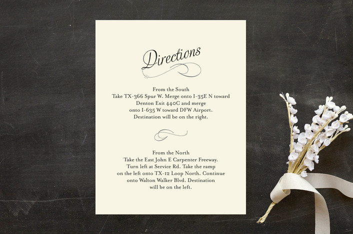 """""""Just My Type"""" - Classical, Vintage Direction Cards in Tuxedo by Ann Gardner."""
