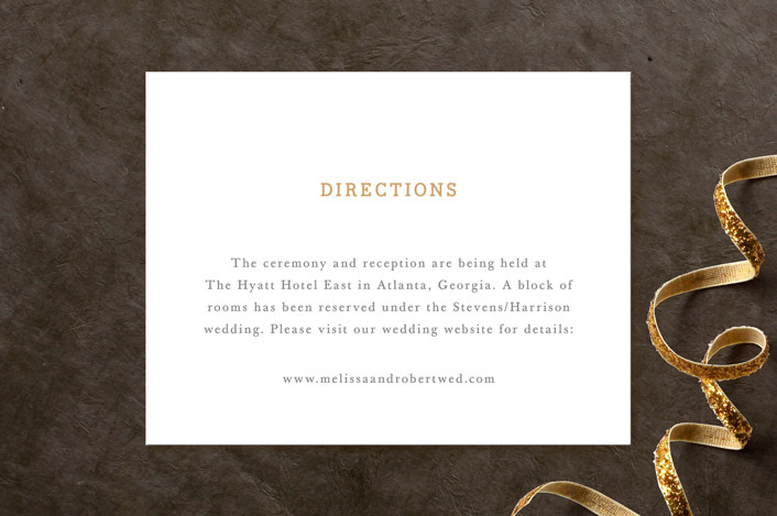 """""""Ornate Monogram"""" - Monogrammed, Formal Direction Cards in Faux Gold by Kristen Smith."""