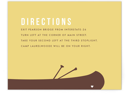A Canoe For Two Directions Cards