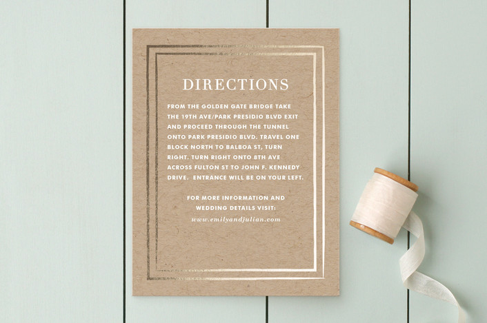 """""""Band of Gold"""" - Modern Direction Cards in Kraft by annie clark."""
