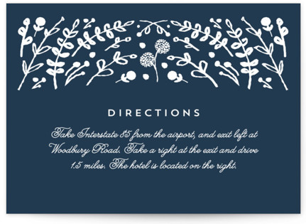 Floral Frame Square Directions Cards