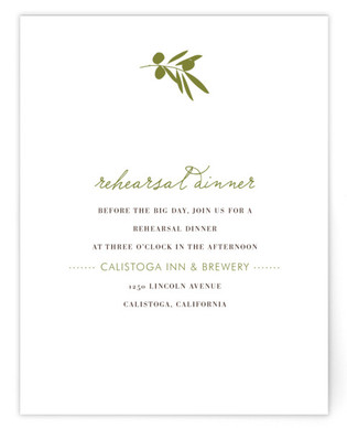 Simple Olive Directions Cards