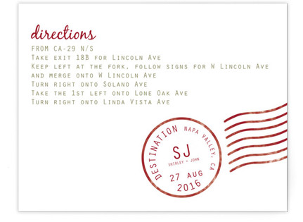 A Faraway Destination Directions Cards