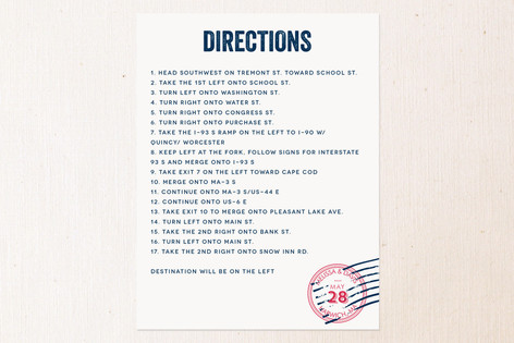 Come Away With Me Direction Cards
