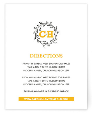A New Leaf Directions Cards