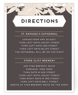 Sophisticated Floral Direction Cards