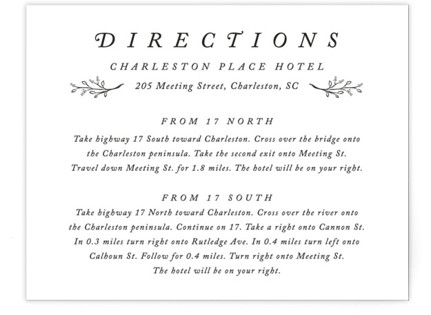 Storybook Romance Directions Cards