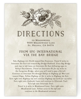 Wedding Etching Directions Cards