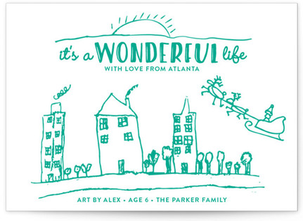 Life Is Wonderful Completely Custom Your Drawing As Letterpress Card
