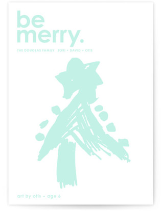 Cherry Merry Completely Custom Your Drawing As Letterpress Card