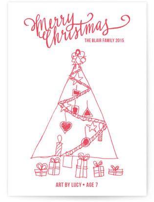 Merry Scriptmas Completely Custom Your Drawing As Letterpress Card