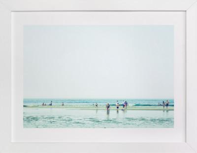 Mint Beach Domino Non-custom Art Print
