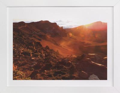 Sunrise on the Crater Domino Non-custom Art Print