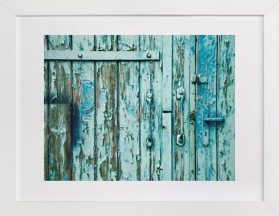Rusty Door Domino Non-custom Art Print