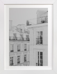 Parisian Rooftops Domino Non-custom Art Print