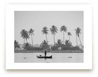Fisherman and his Canoe by HafnHafStudio
