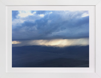 Rain over the Sierra Nevada Domino Non-custom Art Print