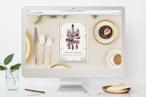 Watercolor Vintage Rehearsal Dinner Online Invitations