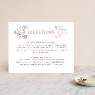 Flourishing Love Foil-Pressed Direction Cards