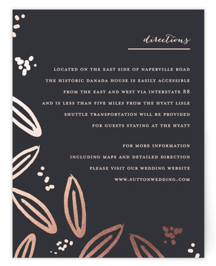 Modern Meadow Foil-Pressed Direction Cards