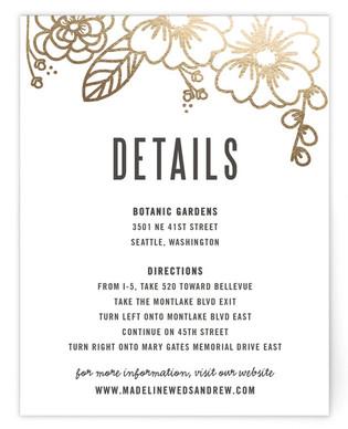 Modern Botanicals Foil-Pressed Direction Cards