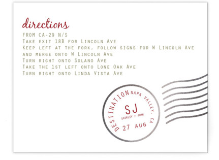 A Faraway Destination Foil-Pressed Direction Cards