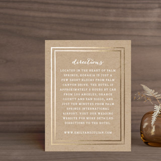 """""""Gold Rush"""" - Whimsical & Funny Foil-pressed Direction Cards in Kraft by annie clark."""