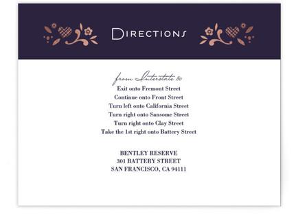 Eventide Foil-Pressed Direction Cards