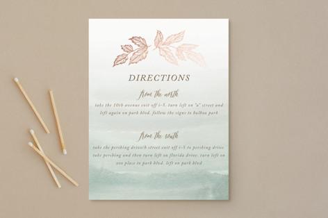 Golden Forage Foil-Pressed Direction Cards